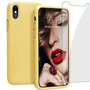 For IPhone X/Xs Yellow Slim Soft Silicone Case